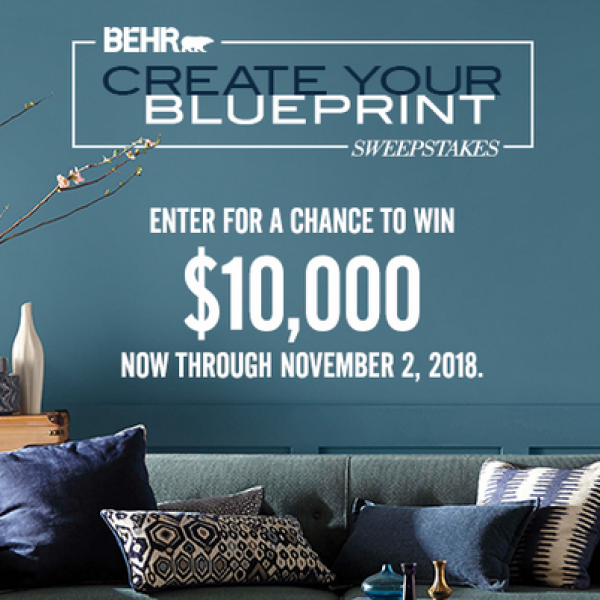 Behr: Win $10,000 or Home depot Gift Cards