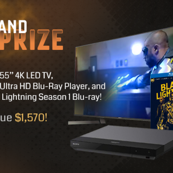 """The CW: Win a Sony 55"""" 4K LED TV, iPad, Blue-ray Player and more"""