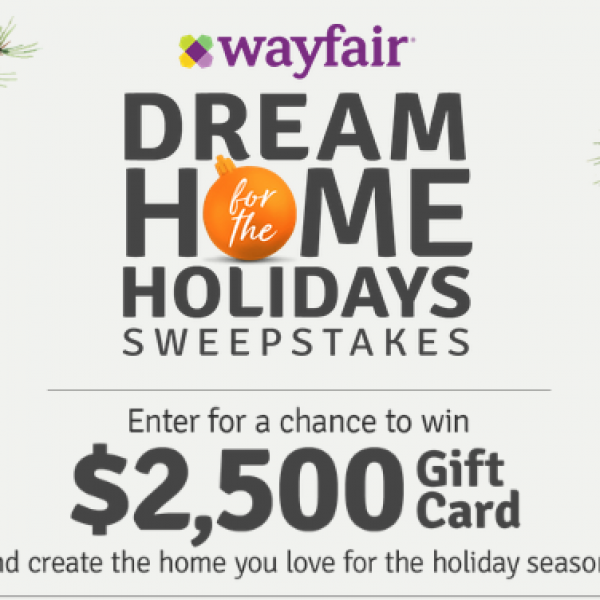 HGTV: Win a $2,500 Wayfair Gift Card
