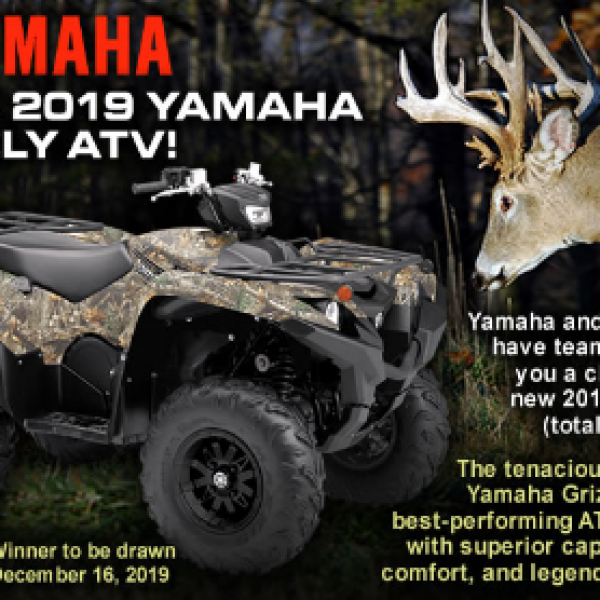 Buckmasters: Win a 2019 Yamaha Grizzly ATV worth $10,000