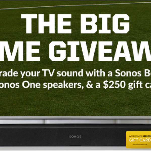 World Wide Stereo: Win a Sonos Beam, Two Sonos One Wireless Speakers and a $250 Gift Card