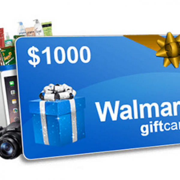 Walmart: Win 1 of 5 $1000 Gift Cards