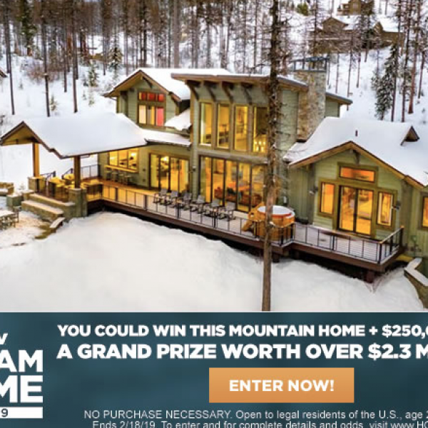 HGTV: Win the 2019 HGTV Dream Home, $250,000, and a Honda Pilot