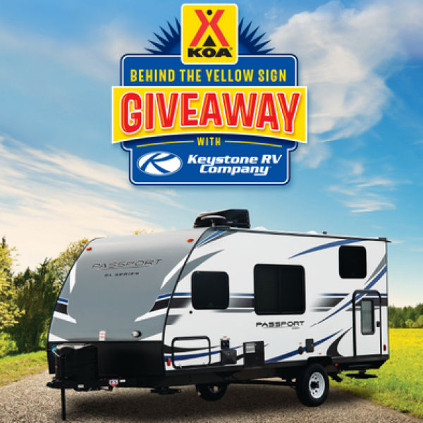KOA: Win a Keystone Passport RV, a $500 KOA gift card, a Dish HDTV antenna bundle and $1,000