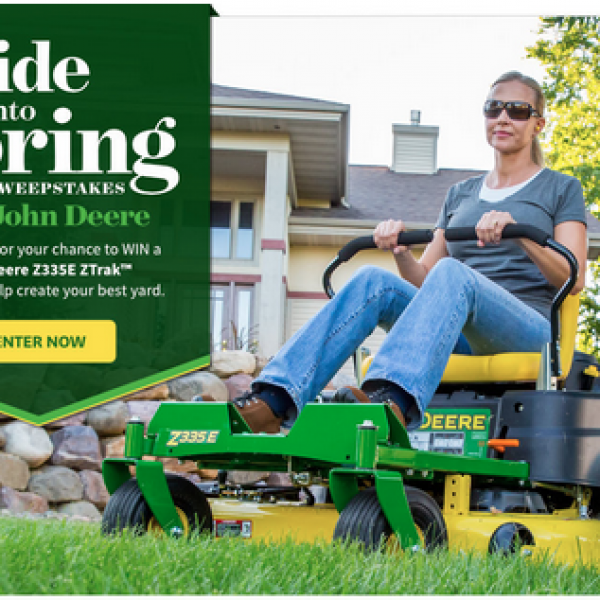 Better Homes and Gardens: Win a John Deere Mower and $1000