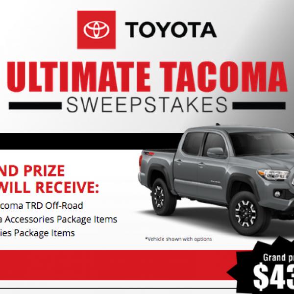 Bassmaster: Win a 2019 Toyota Tacoma TRD Off-Road Truck
