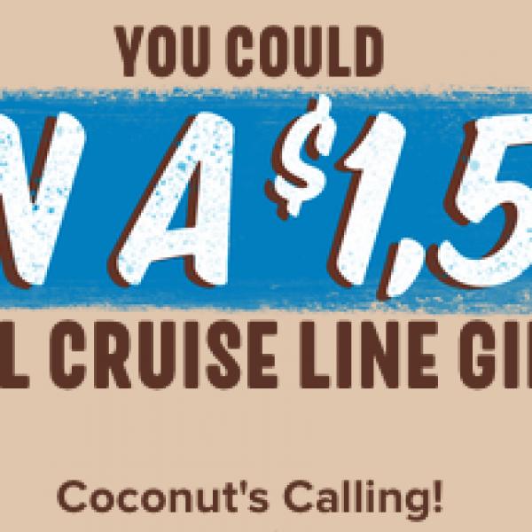 Hershey's: Win a $1,500 Carnival Cruise Gift Card