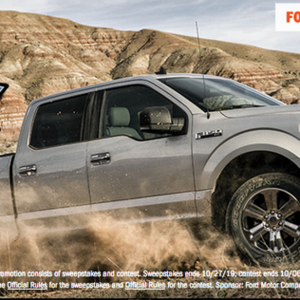 Ford: Win a 2019 Ford F-150 Truck and a trip for two to Vegas