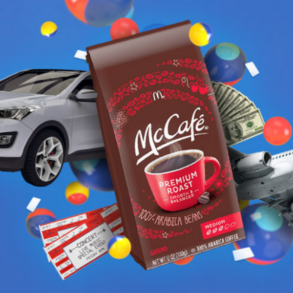 McCafe: Win A Ford Escape, a Vacation, Event Tickets and Gift Cards