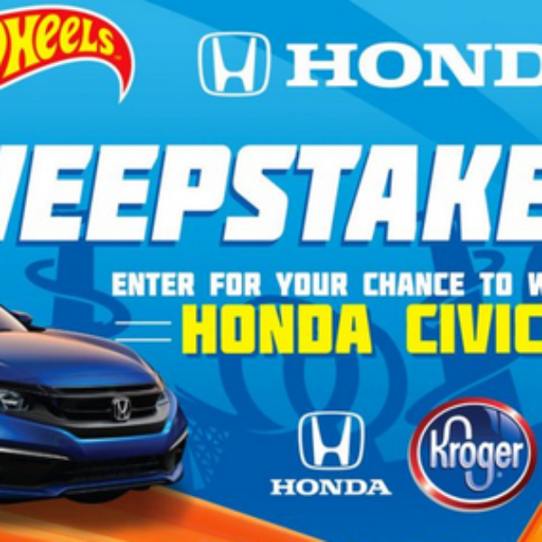 Hot Wheels: Win a 2019 Honda Civic valued at $48,000