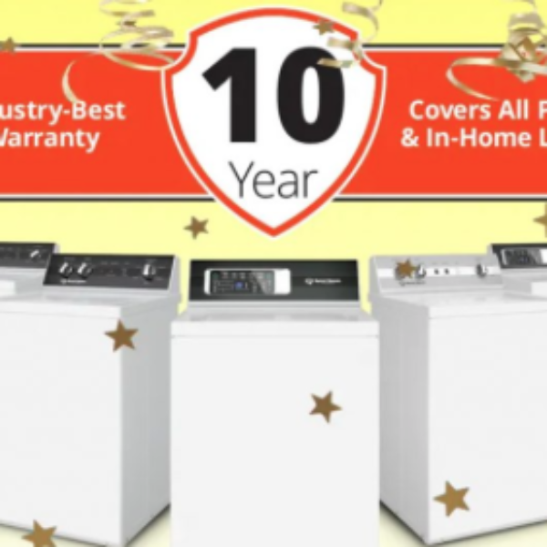 Speed Queen: Win a Washer & Dryer set with a 10-Year Parts and Labor Warranty