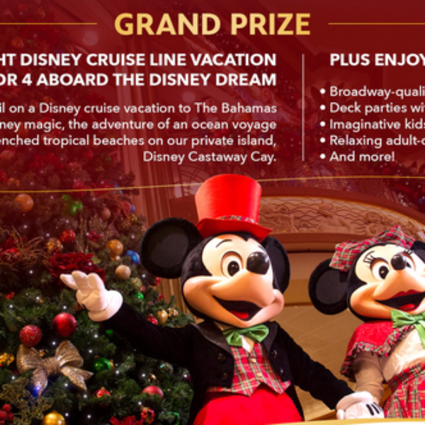 Disney Cruise Line: Win a $10,000 Cruise for 4 aboard the Disney Dream