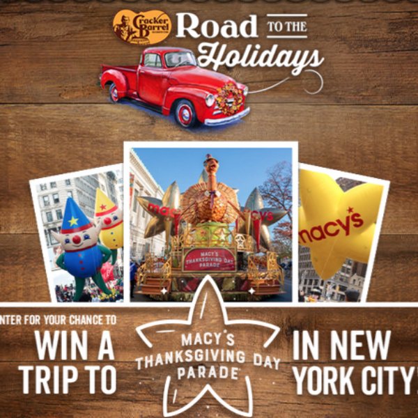 Cracker Barrel: Win a Vintage Red 1947 Chevy Truck or a Trip for four to Macy's Day Parade in New York City