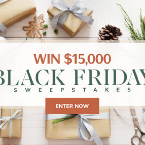 Expired! Martha Stewart Black Friday Sweepstakes: Win $15,000