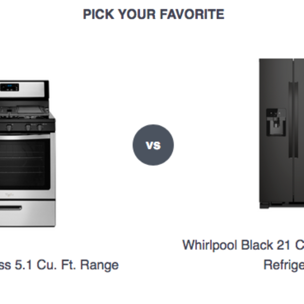 Whirlpool: Win a Range or Side-by-Side refrigerator