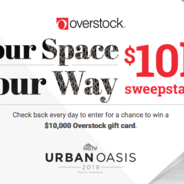 HGTV: Win a $10,000 Overstock Gift Card
