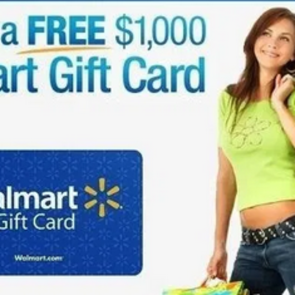 Walmart: Win one of five $1,000 Gift Cards