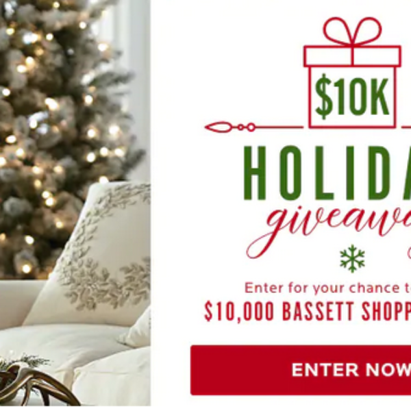 Expired! Bassett Furniture: Win $10,000 worth of New Furniture