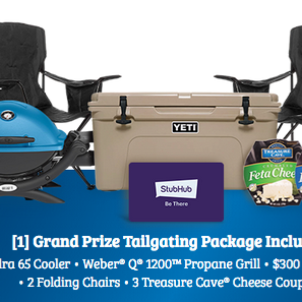 Treasure Cave: Win Yeti Cooler, Weber Grill, $300 StubHub Gift Card, and more