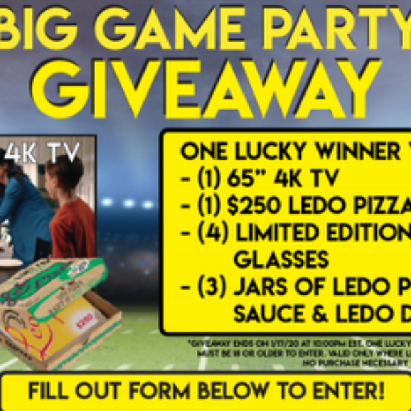 Ledo Pizza: Win a 65″ 4K TV, $250 Ledo Pizza Gift Card, and more