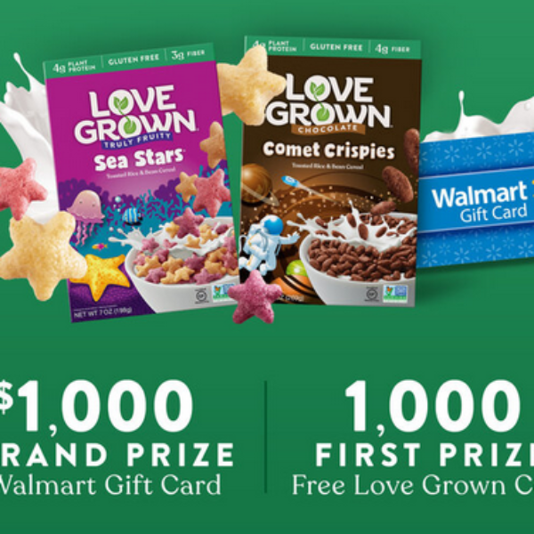 Expired! Love Grown: Win a $1,000 Walmart Gift Card
