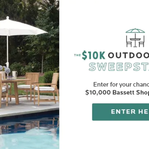 Expired! Bassett Furniture: Win a $10,000 Outdoor Furniture shopping spree
