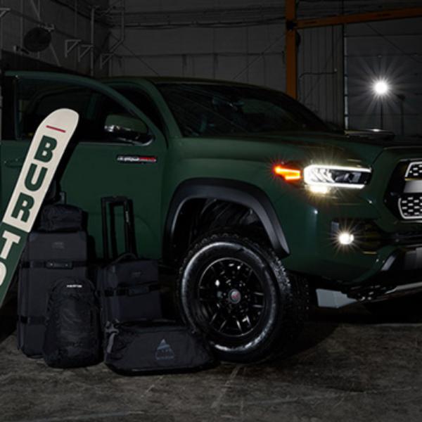 Burton: Win a 2020 Toyota Tacoma TRD Pro double Cab Truck, a Luggage set, and a Burton Snowboard