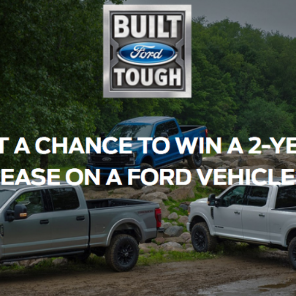 Ford: Win a 2 Year Lease on a 2020 Ford vehicle of winner's choice