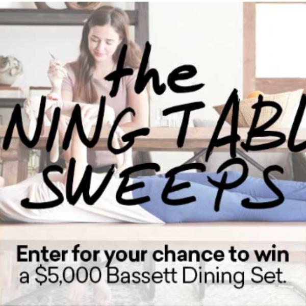 Expired! Bassett: Win a $5,000 Bassett Furniture shopping spree