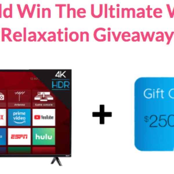 Expired! Bubbly Belle: Win a 65″ 4K Smart TV, $250 Visa gift card and 16 all natural ring bath bombs