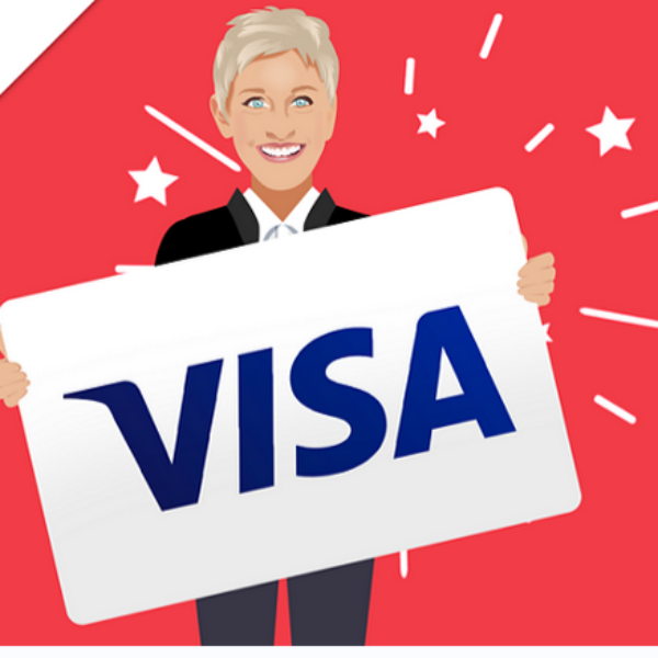 Expired! Ellen: Win a $1,000 Visa Gift Card