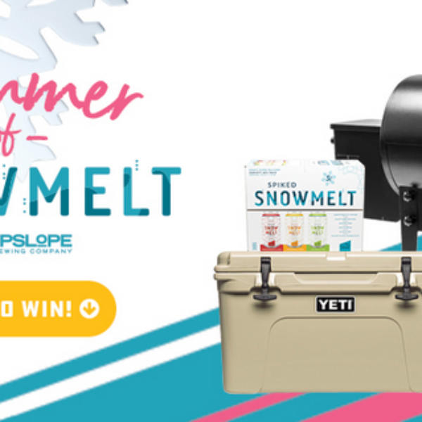 Upslope: Win a Traeger Grill, YETI Cooler, and a case of Spiked Snowmelt