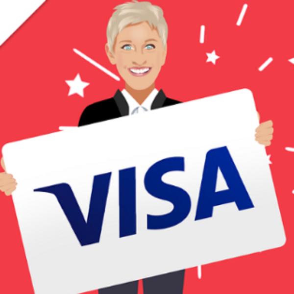 Ellen: Win a $500 Visa Gift Card