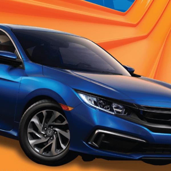 Hot Wheels: Win a 2020 Honda Civic Coupe LX CVT Car