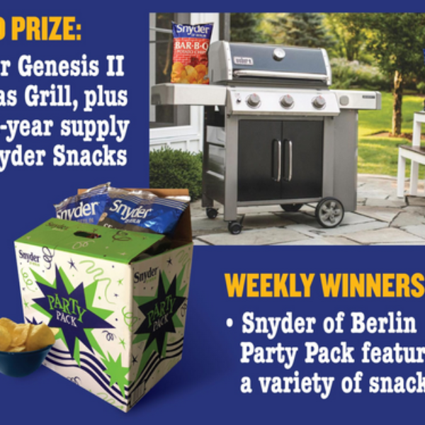 Snyder: Win a Weber gas grill and a year's supply of Snyder snacks