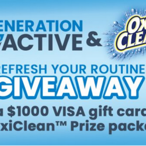 OxiClean: Win a $1,000 Visa Gift Card and free laundry products