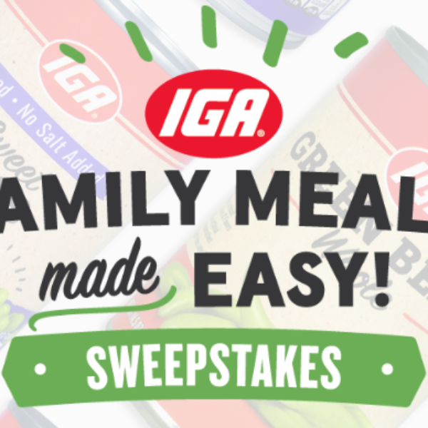 Family Meals Made Easy: Win $1,000 in Visa gift cards and a $1,000 donation to your local food bank