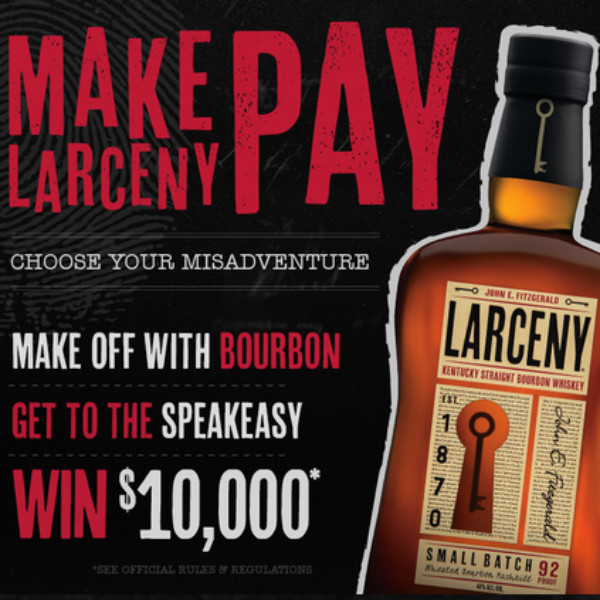 Larceny Bourbon: Win $10,000