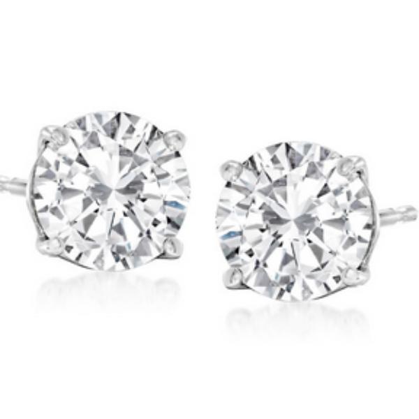 Ross-Simons Holiday: Win a $4,995 Pair of Diamond Stud Earrings