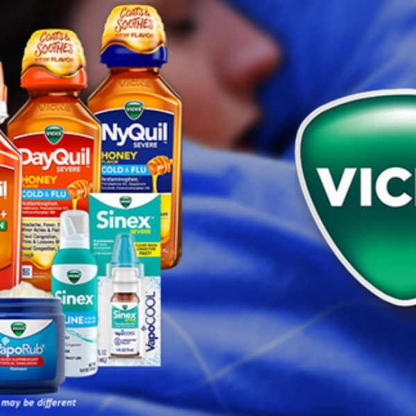Vicks: Win $1,000 and Vicks gift basket including NyQuil, DayQuil, VapoRub, cough drops, and more