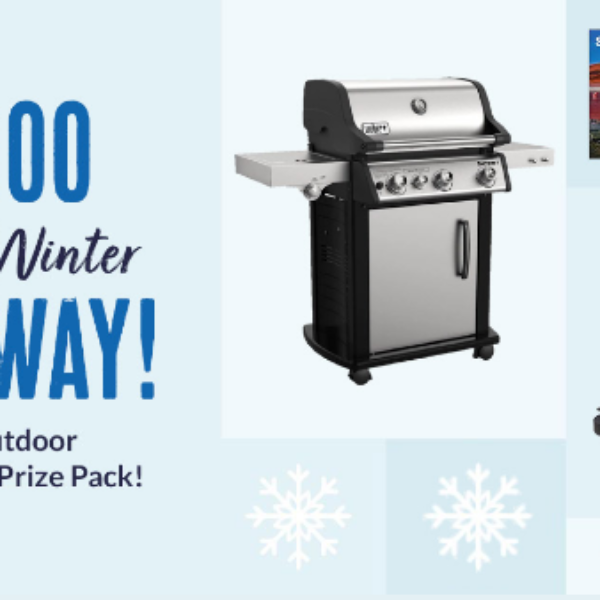 BBQGuys Winter Giveaway: Win a 55″ Outdoor TV, Weber grill, Fire Pit, and more