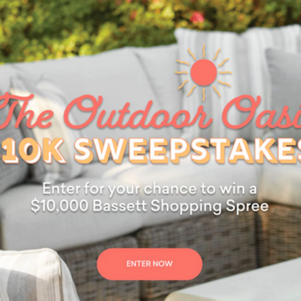 Bassett Outdoor Oasis: Win $10,000 worth of New Furniture