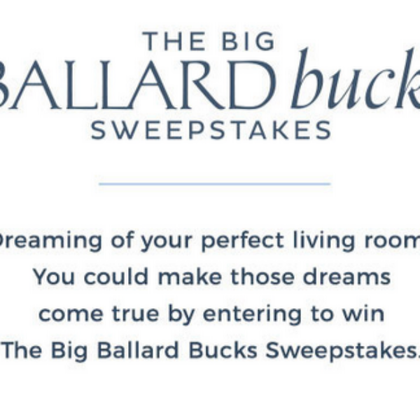 Big Ballard Bucks: Win $20,000 for Room Makeover with Free Design Services