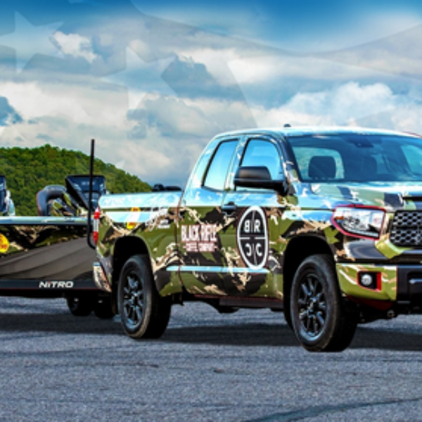 Black Rifle Coffee: Win a Toyota Tundra truck, fishing boat, apparel gift cards, tackle box, gear, and more