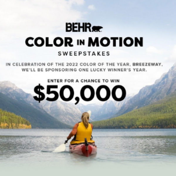 BEHR Color in Motion: Win $50,000 or a $1,000 Home Depot Gift Card